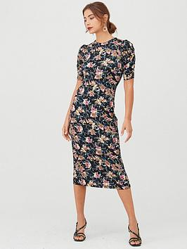 v-by-very-ruched-sleeve-tie-back-midi-dress-floral