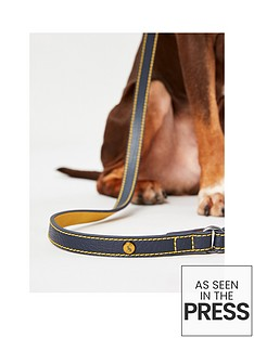 joules-navy-leather-lead