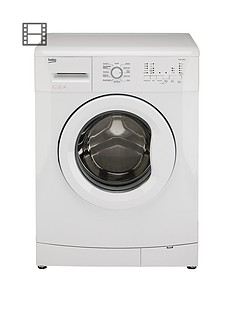 Beko WMS6100W 6kg Load, 1000 Spin Washing Machine - White