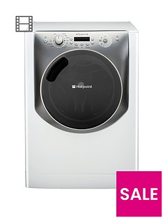Hotpoint Aqualtis AQ113F497E 11kg Load, 1400 Spin Washing Machine - White/TitaniumA++ Energy Rating
