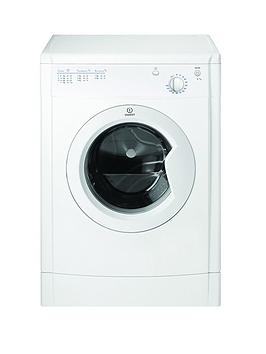 indesit idv75 7kg load vented tumble dryer white. Black Bedroom Furniture Sets. Home Design Ideas