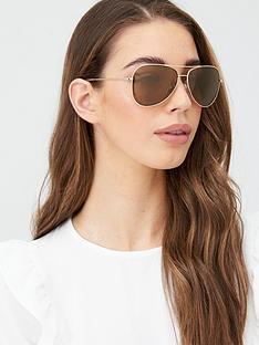 dkny-city-native-aviator-sunglasses-gold