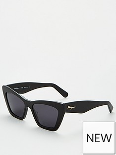 salvatore-ferragamo-classic-logo-cat-eye-sunglasses-black