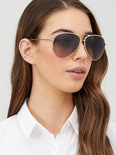 victoria-beckham-hammered-aviator-sunglasses-gold