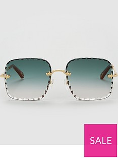 chloe-rosie-square-sunglasses-gold