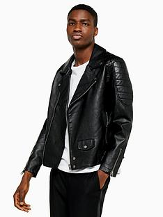 topman-topman-faux-leather-biker-jacket-black