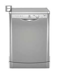Indesit DFG15B1S 12-Place Dishwasher - Silver Best Price, Cheapest Prices