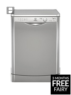 Indesit DFG15B1S 12-Place Full Size Dishwasher with Quick Wash - Silver