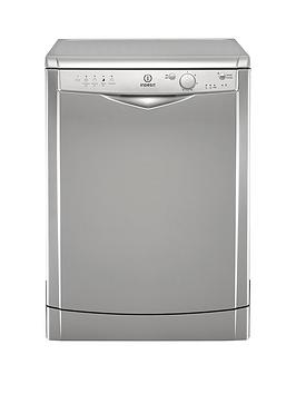 Indesit Dfg15B1S 12-Place Full Size Dishwasher With Quick Wash - Silver Best Price, Cheapest Prices