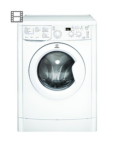 Indesit IWDD7143 1400 Spin, 7kg Wash, 5kg Dry Washer Dryer - White