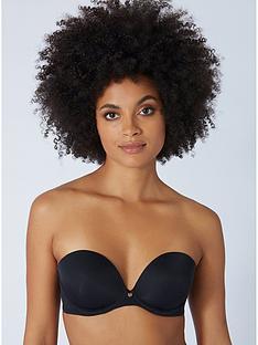 boux-avenue-plunge-strapless-bra-black