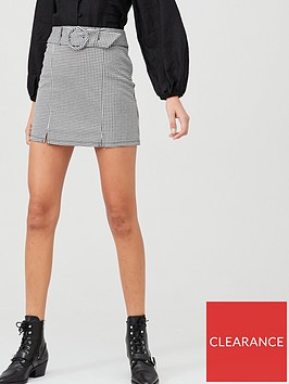 v-by-very-check-belted-mini-skirt-black-white