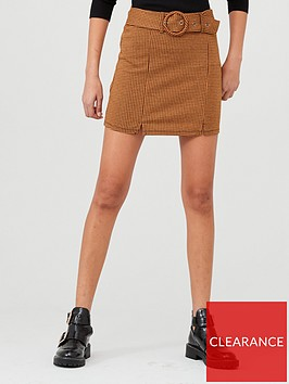 v-by-very-check-belted-mini-skirt-multi