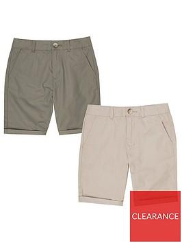 river-island-boys-chino-shorts-multipack-stonekhaki