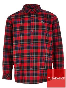 river-island-boys-check-print-long-sleeve-shirt-red