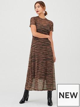 v-by-very-animal-print-mesh-midaxinbspdress-brown