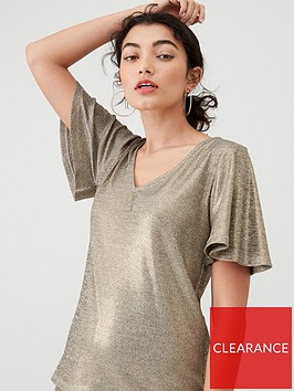 v-by-very-lurex-v-neck-top-co-ord-bronze