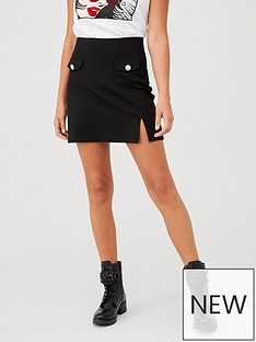 v-by-very-jewel-pocket-mini-skirt-black