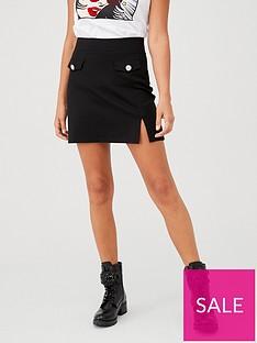 v-by-very-jewel-pocket-mini-skirt-black