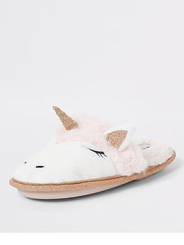 river-island-girls-unicorn-glitter-slippers-pink
