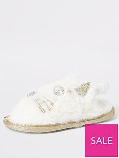 river-island-mini-mini-girls-cat-slippers-white