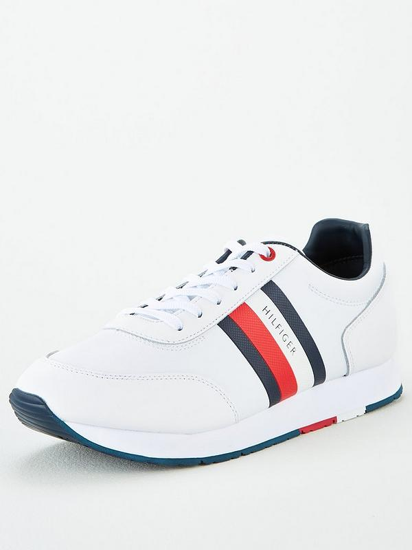 best authentic the sale of shoes top brands Tommy Hilfiger Flag Trainers - White | very.co.uk