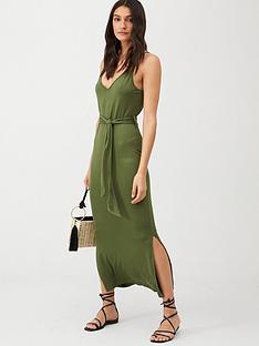 v-by-very-strappy-belted-midi-beach-dress-khaki