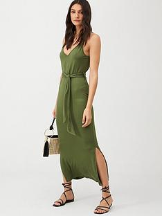 v-by-very-strappy-belted-midinbspdress-khaki