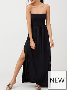 v-by-very-bandeau-maxi-beach-dress-black