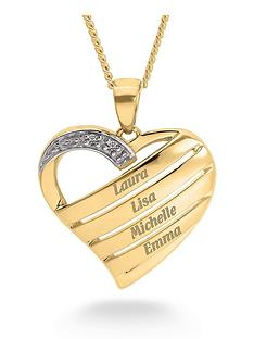 love-gold-personalised-9ct-gold-diamond-set-heart-family-pendant-necklace