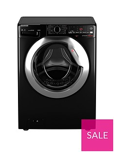 hoover-wdwoad4106ahcb-10kg-1400-spin-washer-dryer--blackchrome-door