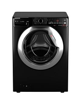 Hoover Wdwoad4106Ahcb 10Kg, 1400 Spin Washer Dryer- Black/Chrome Door