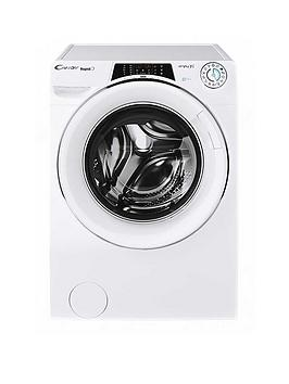 Candy Row141066Dwhc Rapido 10Kg, 1400 Spin Washer Dryer- White/Chrome Door