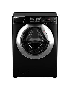 Hoover DWOA411AHC8B-80 11kg, 1400 Spin Washing Machine- Black/Chrome door