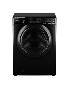 Hoover DWOAD69AHF7B-80 9kg Load, 1600 Spin Washing Machine - Black/Tinted Door