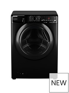 Hoover DWOAD610AHF7B-80 10kg, 1600 Spin Washing Machine- Black/Tinted Door