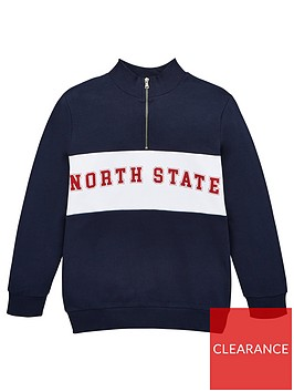 v-by-very-boys-north-state-half-zip-sweat-top-navy