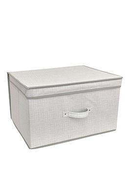 linen-look-jumbo-storage-chest