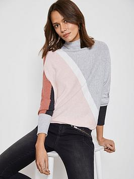 mint-velvet-asymmetric-blocked-batwing-knit-jumper-multi