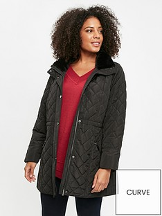 evans-diamond-quilt-faux-fur-trim-coat-black