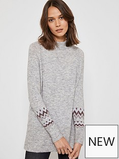 mint-velvet-longline-fairisle-detail-zip-back-knit-jumper-grey