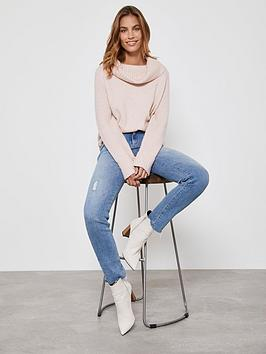 mint-velvet-easy-funnel-chunky-knit-jumper-pink