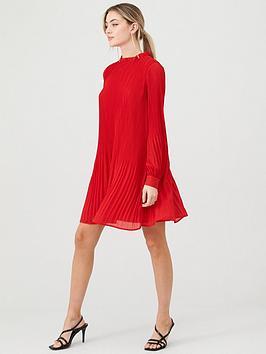 warehouse-micro-pleat-mini-dress