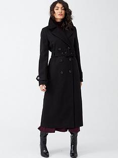 warehouse-full-length-belted-coat-black