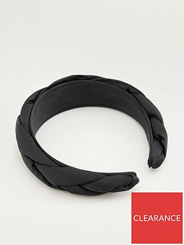 mango-braided-hairbandnbsp--black