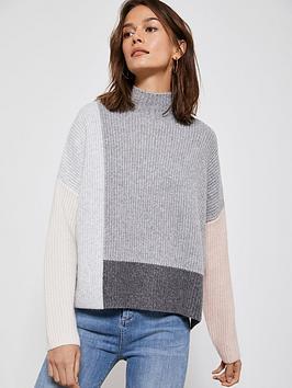 mint-velvet-colour-blocked-boxy-knit-jumper-grey