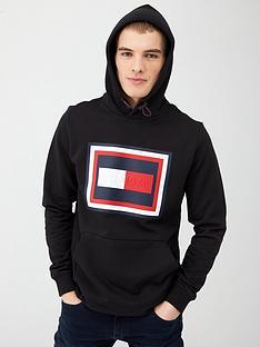 tommy-hilfiger-embossed-hoodie-black