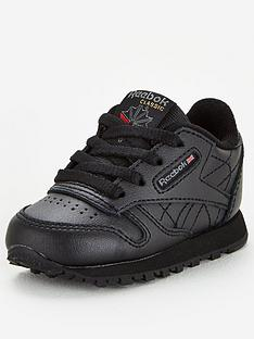 reebok-classic-leather-toddler-trainers-black