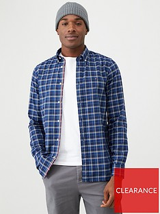 tommy-hilfiger-checked-long-sleeved-shirt-blue