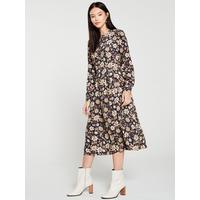 autumn-daisy-midi-dress---neutral-print by warehouse